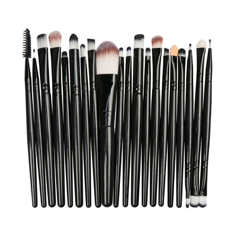 Eye Makeup Brush 20 Pieces Set - Black (20106)