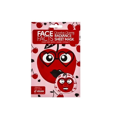 Face Facts Cheeky Cherry Radiance Sheet Mask 20ml