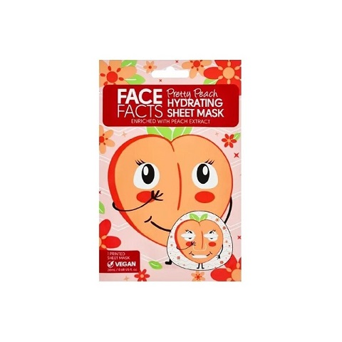Face Facts Pretty Peach Hydrating Sheet Mask 20ml