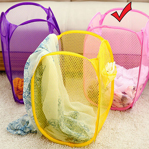 Folding Dirty Clothes Storage Basket - Pink