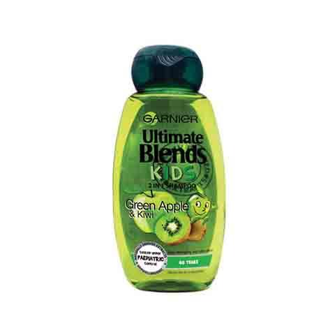Garnier Ultimate Blends Green Apple & Kiwi Kids 2 In 1 Shampoo 250ml