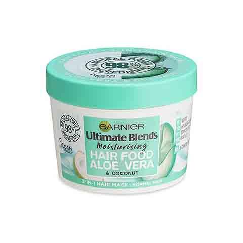 Garnier Ultimate Blends Moisturising Hair Food Aloe Vera & Coconut 3 In 1 Normal Hair Mask 390ml