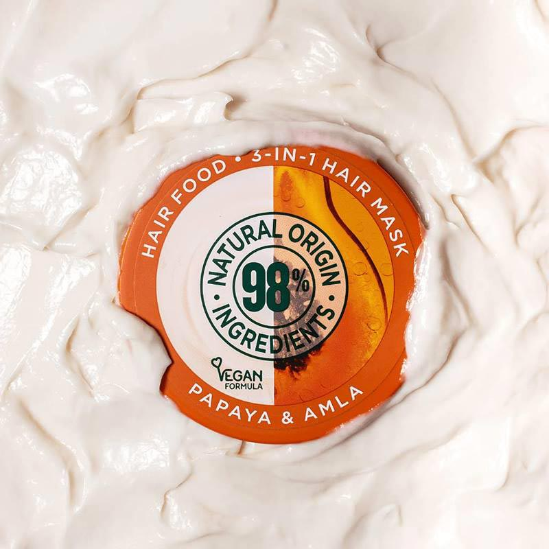 Garnier Ultimate Blends Repairing Hair Food Papaya & Amla 3 In 1 Damaged Hair Mask 390ml