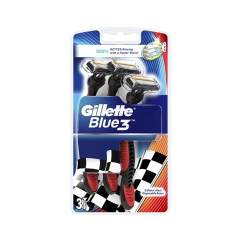 Gillette Blue3 Disposable Razor - 3pcs (6130)