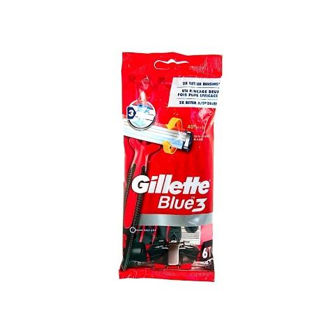 Gillette Blue3 F1 Disposable Razors Pack - 6 Pieces