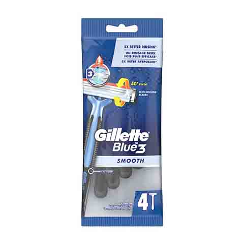 Gillette Blue3 Smooth Razor - 4 Razors (7418)