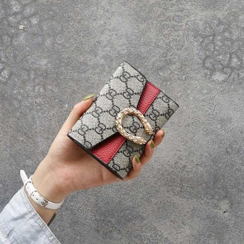 Gold Metal Multi Card Position Small Wallet