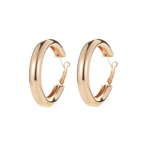 Gold Plated Hoop Earrings for Women