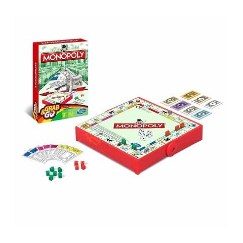 Hasbro Gaming Monopoly Grab & Go Game (2 - 4 Players)