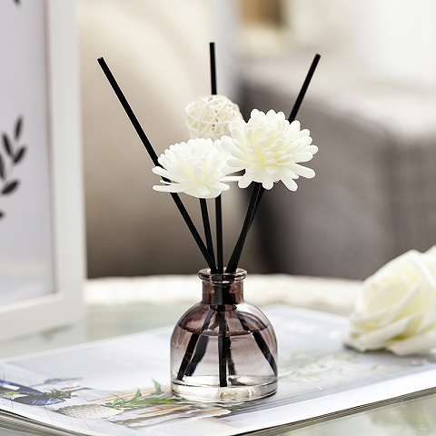 Home Aroma Therapy Rattan Reed Fragrance Diffuser Set - Rose (20244)