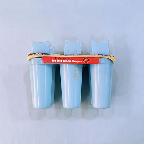Homemade Bear Popsicle Ice Cream Stick - Round Shape Blue