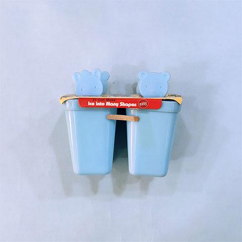 Homemade Bear Popsicle Ice Cream Stick - Vertical Shape Blue