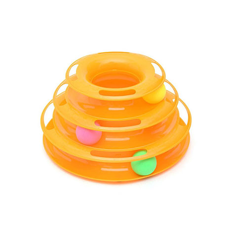 Interactive Puzzle Tower Play Plate Cat Toy