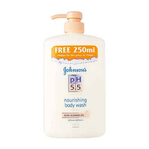 Johnson's pH 5.5 Nourishing Body Wash With Almond Oil 1000ml