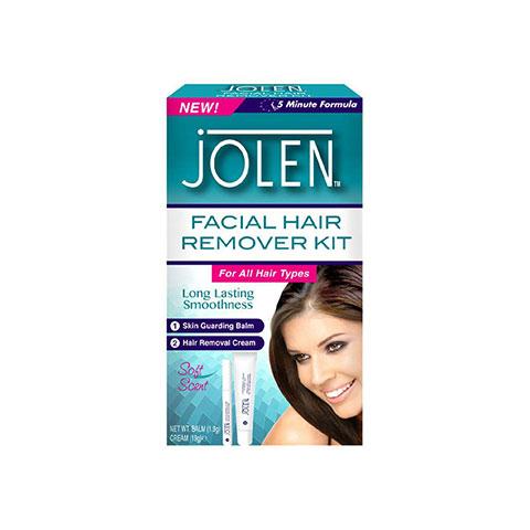 Jolen Facial Hair Removal Kit For All Hair Types