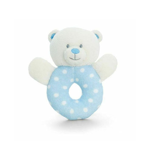 Keel Toys Baby Ring Rattle - Blue (7697)