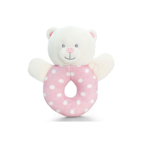 Keel Toys Baby Ring Rattle - Pink (7697)