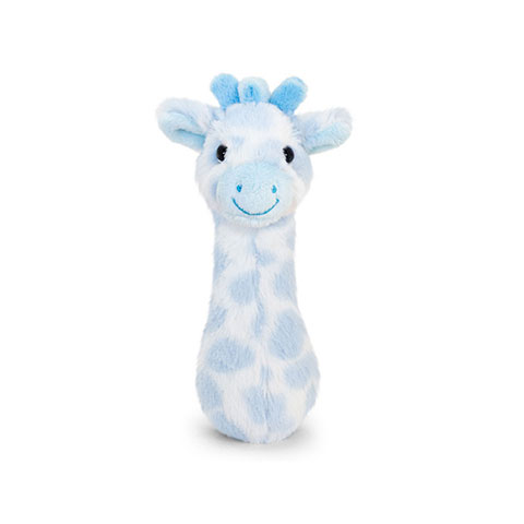 Keel Toys Snuggle Giraffe Baby Rattle - Blue