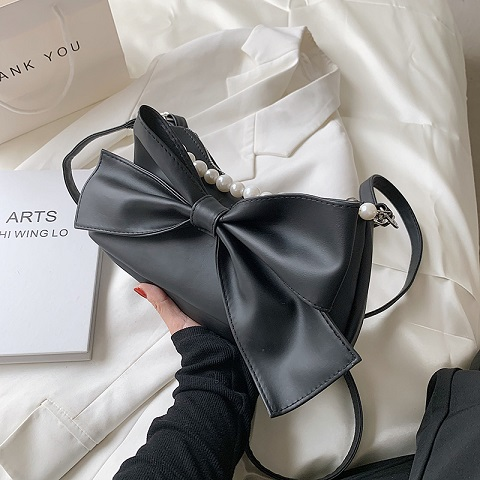 Ladies Fashionable Bow Knot Style Pearl Bag (1001003)