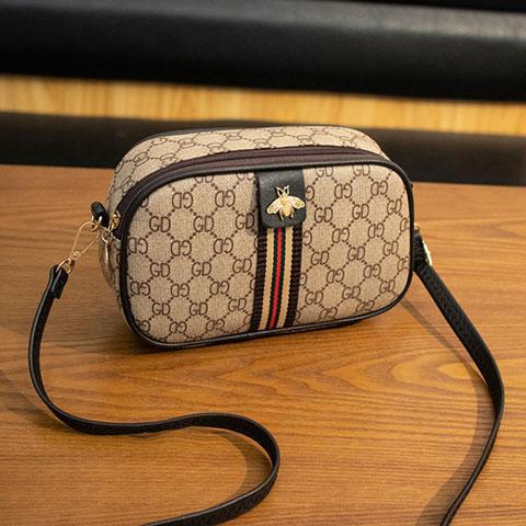 Ladies Simple Little Bee Brown Bag