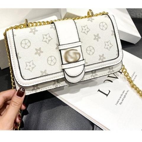 Ladies Trendy Floral Printed Chain Shoulder Bag (1001039)