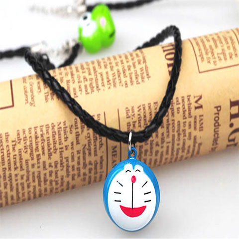 Large Cartoon Bell Pet Necklace - Blue