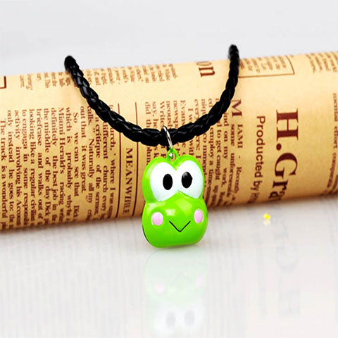 Large Cartoon Bell Pet Necklace - Green