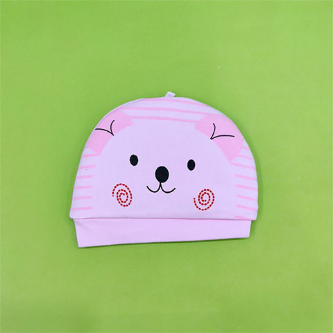 Little Bear Quilted Baby Tire Cap - Pink