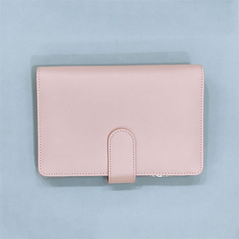 Little Girl Coil Leather Notebook - Pink