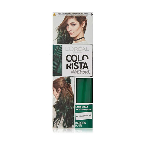 L'Oreal Colorista Washout Semi-Permanent Hair Colour 80ml - Green Hair
