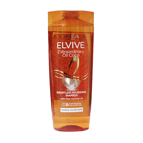L'oreal Elvive Extraordinary Oil Coco Weightless Nourishing Shampoo For Normal To Dry Hair 400ml
