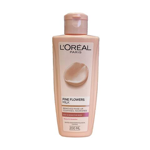 L'Oreal Fine Flowers Cleansing Milk For Dry & Sensitive Skin 200ml
