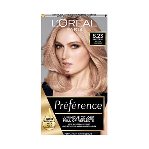 L'Oreal Infinia Preference New Rose Gold Reflects Colour Extender Permanent Hair Colour - 8.23 Shimmering Rose Gold