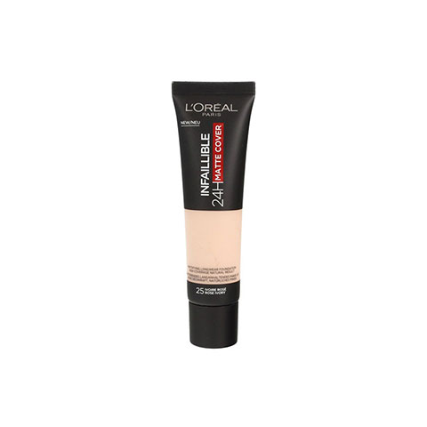 L'Oreal Paris Infallible 24Hr Matte Cover Foundation 30ml - 25 Rose Ivory