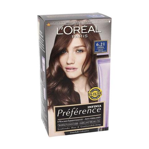 L'Oreal Paris Infinia Preference Permanent Hair Colour - 6.21 Opera
