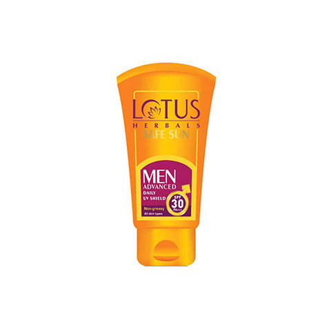 Lotus Herbals Safe Sun Men Advanced Daily Uv Shield SPF 30 Pa+++ 100g