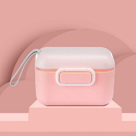 Macaron Portable Milk Powder Box - Pink