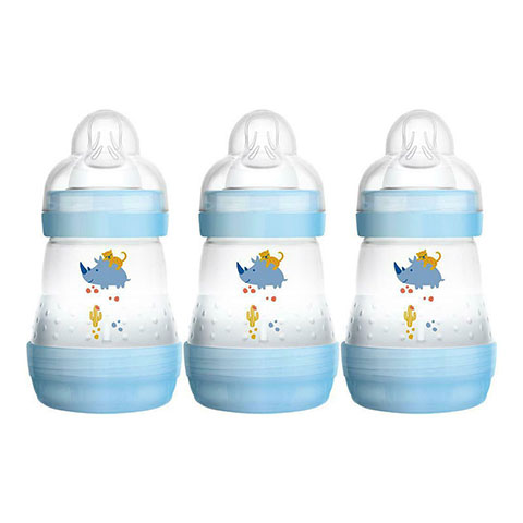 MAM Easy Start Anti - Colic 0m+ Bottles 3x160ml - Blue