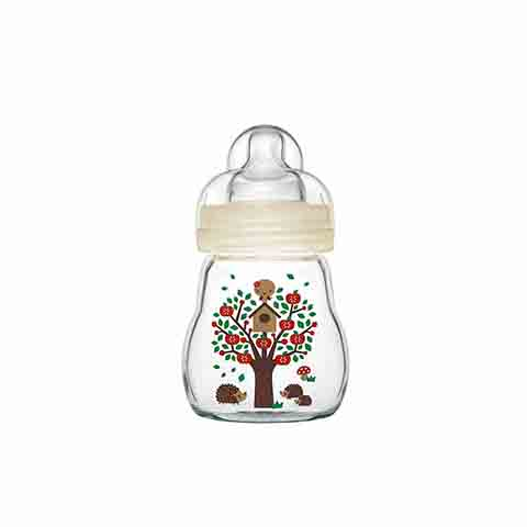 MAM Feel Good Baby Glass Bottle 0+ Months 170ml - White