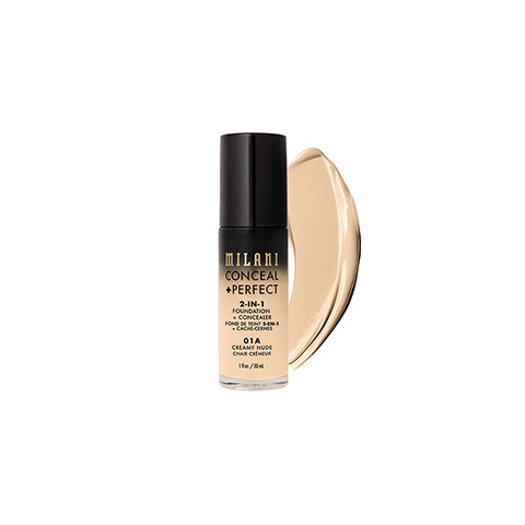 Milani Conceal Perfect 2 In 1 Foundation + Concealer - 01A Creamy Nude