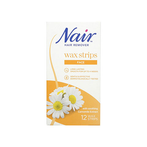 Nair Hair Remover Facial Wax Strips With Camomile Extract 12'S