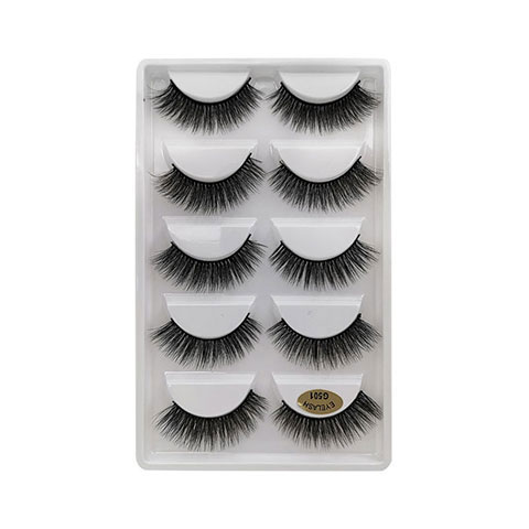 Natural Thick Imitation Mink 5 Pairs False Eyelashes - G501