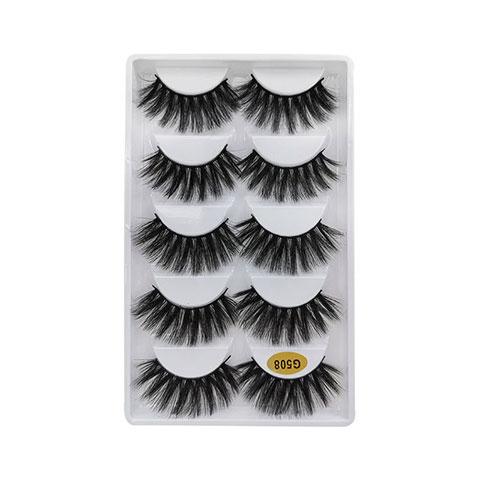 Natural Thick Imitation Mink 5 Pairs False Eyelashes - G508