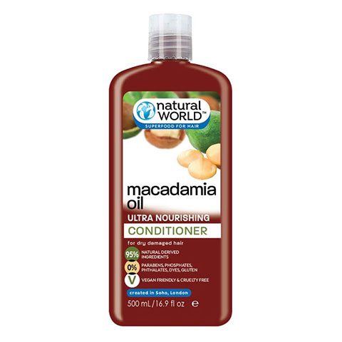 Natural World Macadamia Oil Ultra Nourishing Conditioner 500ml