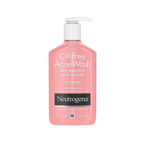 Neutrogena Oil Free Acne Wash Pink Grapefruit Facial Cleanser 269ml