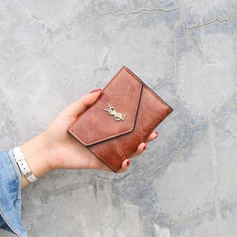 New Ladies Three Fold Short Wallet