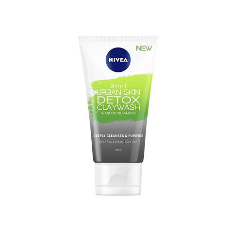 Nivea 3 in 1 Urban Skin Detox Clay Wash 150ml