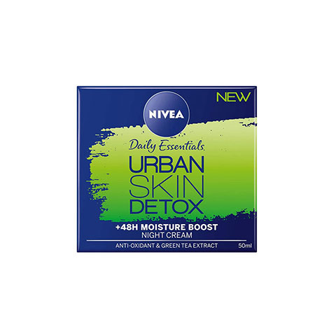 Nivea Daily Essentials Urban Skin Detox +48H Moisture Boost Night Gel Cream 50ml