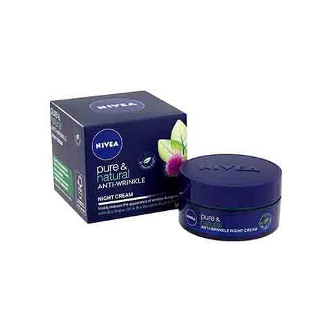 Nivea Pure & Natural Anti-Wrinkle Night Cream 50ml