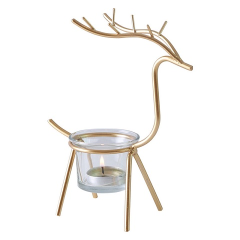 Nordic Style Simple Iron Elk Shaped Candle Stand (20175)